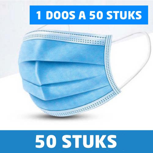 50 mondmaskers blauw