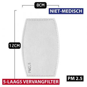 Filter PM2.5 8x12CM per 10 stuks